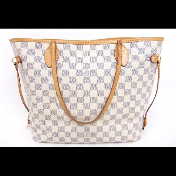 Louis Vuitton Handbags - Louis Vuitton azur never full bag MM square gray 1ac1571899356